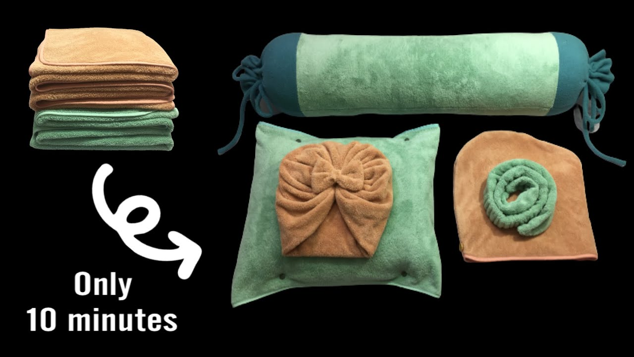 ⭐️ 5 Brilliant Sewing Projects from Old Towels/5 Sewing Projects in under 10 minutes / DIY TREFA