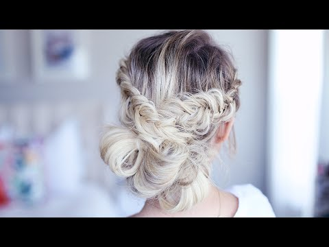 Fancy Fishtail Updo   Homecoming Hairstyle   Cute Girls Hairstyles