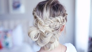 Fancy Fishtail Updo | Homecoming Hairstyle | Cute Girls Hairstyles