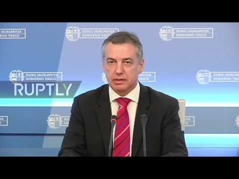 Spain: Basque President backs ETA disarmament, urges discretion from media