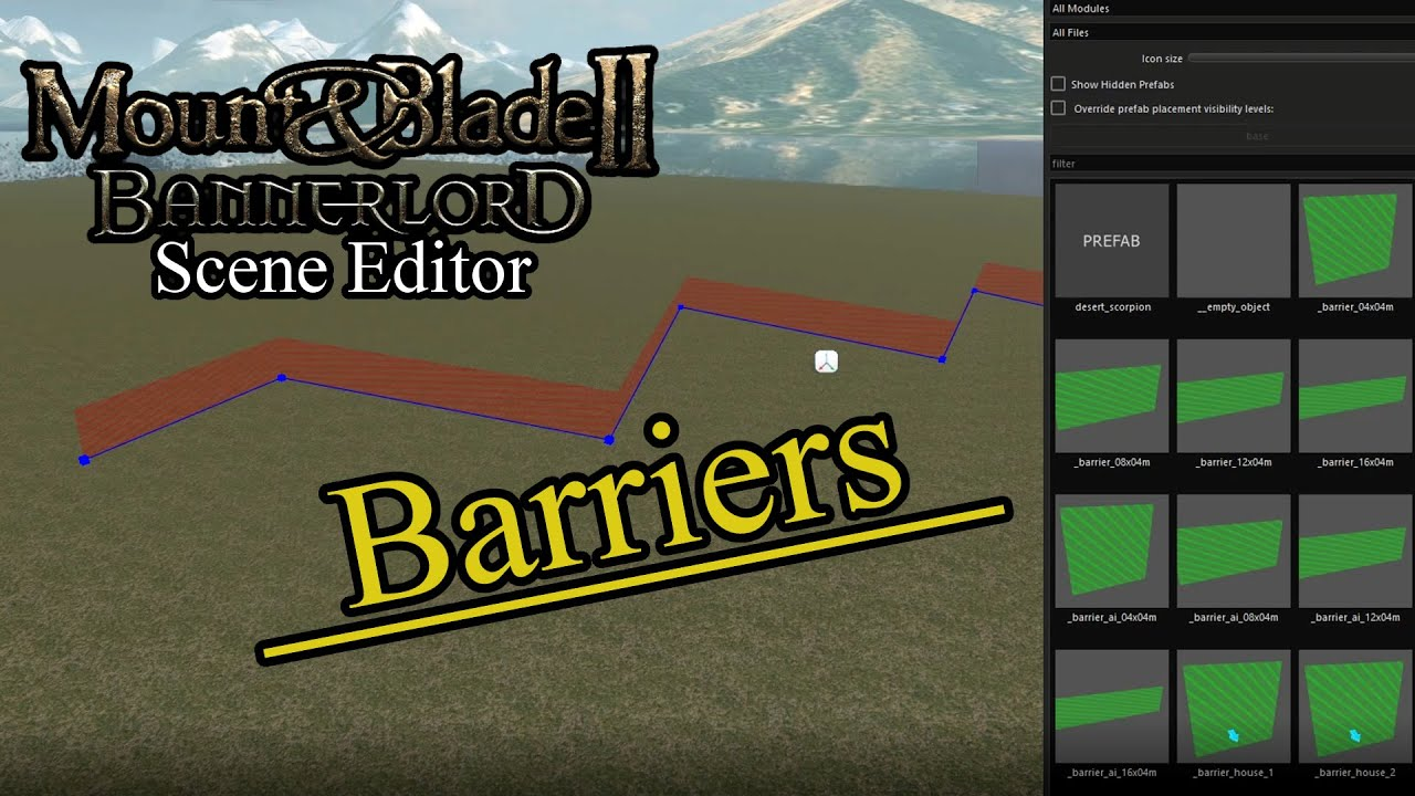 Bannerlord - Scene Editor Tutorial #19 - Barriers