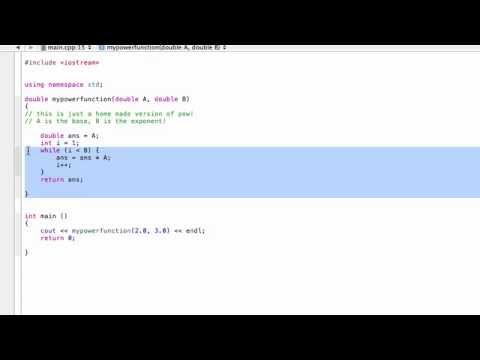 How To Build Your Own Power Function From Scratch C Programming Tutorial Youtube Below programs illustrate the pow() function in c++: how to build your own power function from scratch c programming tutorial