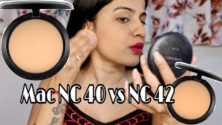 Mac Studio Fix Powder Foundation NC 40 Vs. NC 42 | Mac Studio Fix Compact Powder for Indian Skin