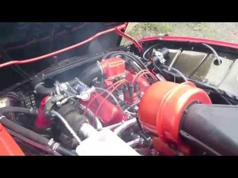 Saab 96 V4 Turbo engine testrun