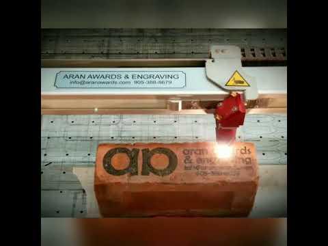 Laser Engraving Brick - Aran Awards & Engraving