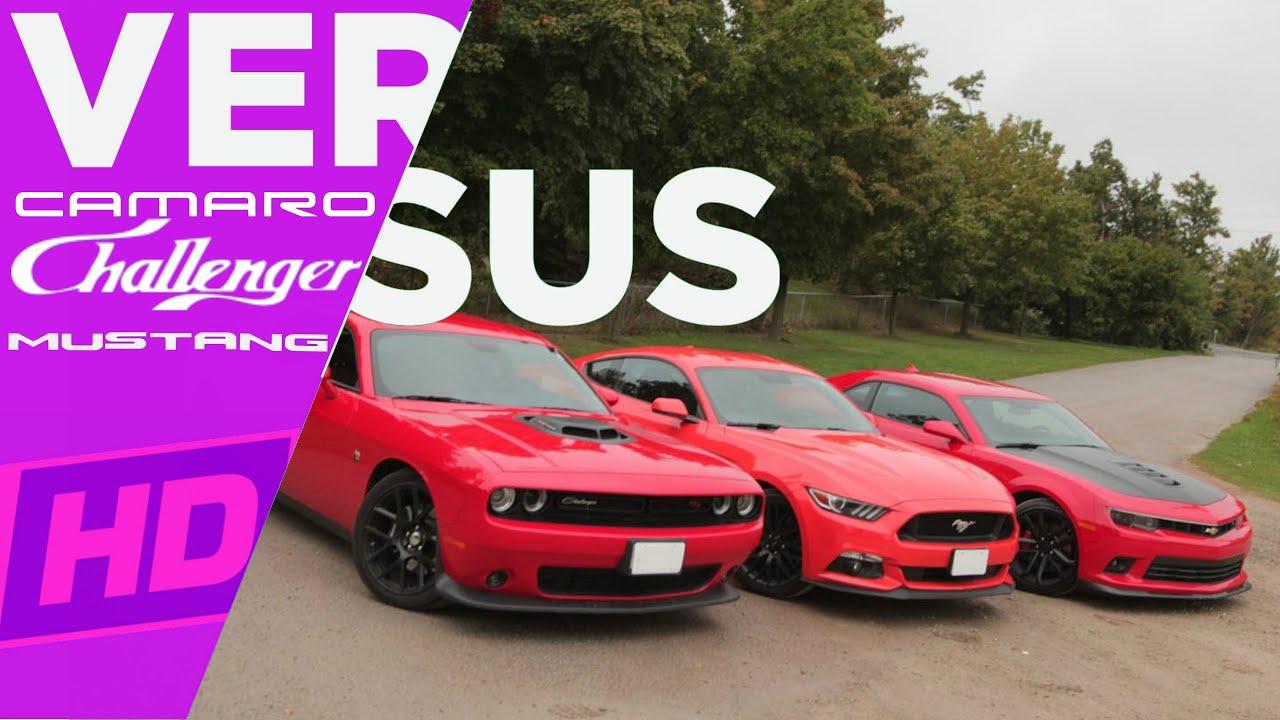 2017 Challenger Hellcat Vs Mustang Gt350r Vs Camaro Zl1