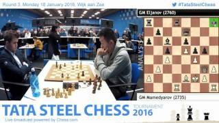 Mamedyarov Blunders and Pavel Eljanov wins, Post game Analysis - Tata Steel Chess 2016