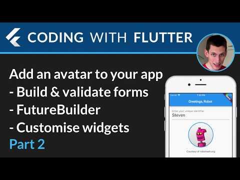 Flutter & RoboHash 02 - Add an avatar to your app - part 2