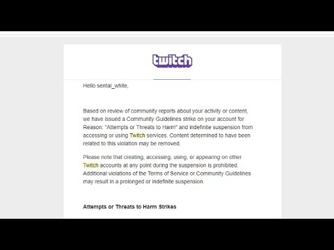 Indefinitely suspended FROM TWITCH?!?!?!?!?