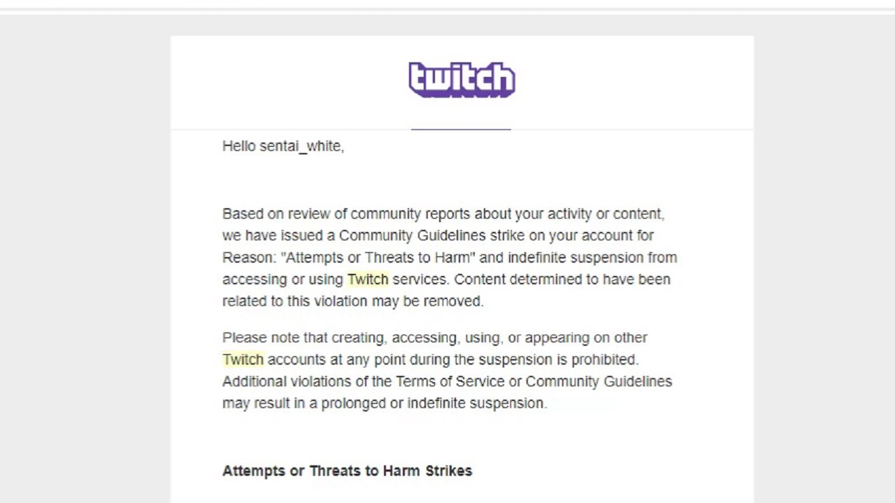 Indefinitely Suspended From Twitch Youtube