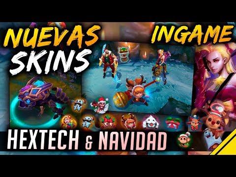 NUEVAS SKINS INGAME - Navidad y Hextech - Jinx, Draven, Poppy, Kog'Maw   Noticias LoL