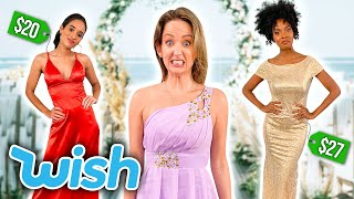 Trying WEIRD Wish Bridesmaid Dresses! [Formal Dresses Under $40]