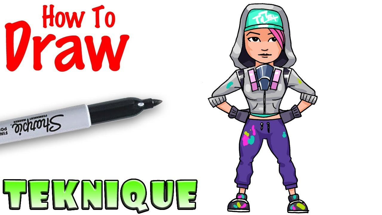 How To Draw Teknique Fortnite Youtube