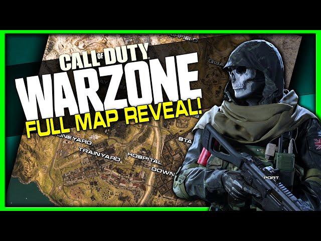 Warzone Battle Royale Map In Call Of Duty Modern Warfare