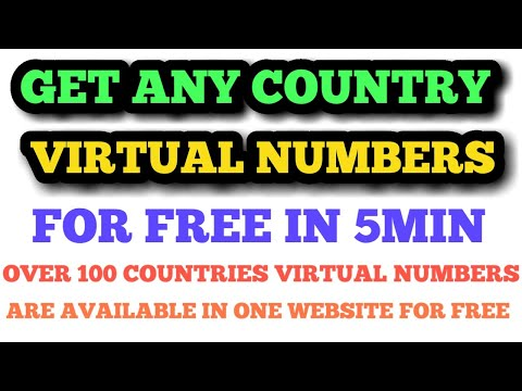 HOW TO GET ANY COUNTRY VIRTUAL NUMBERS FOR FREE