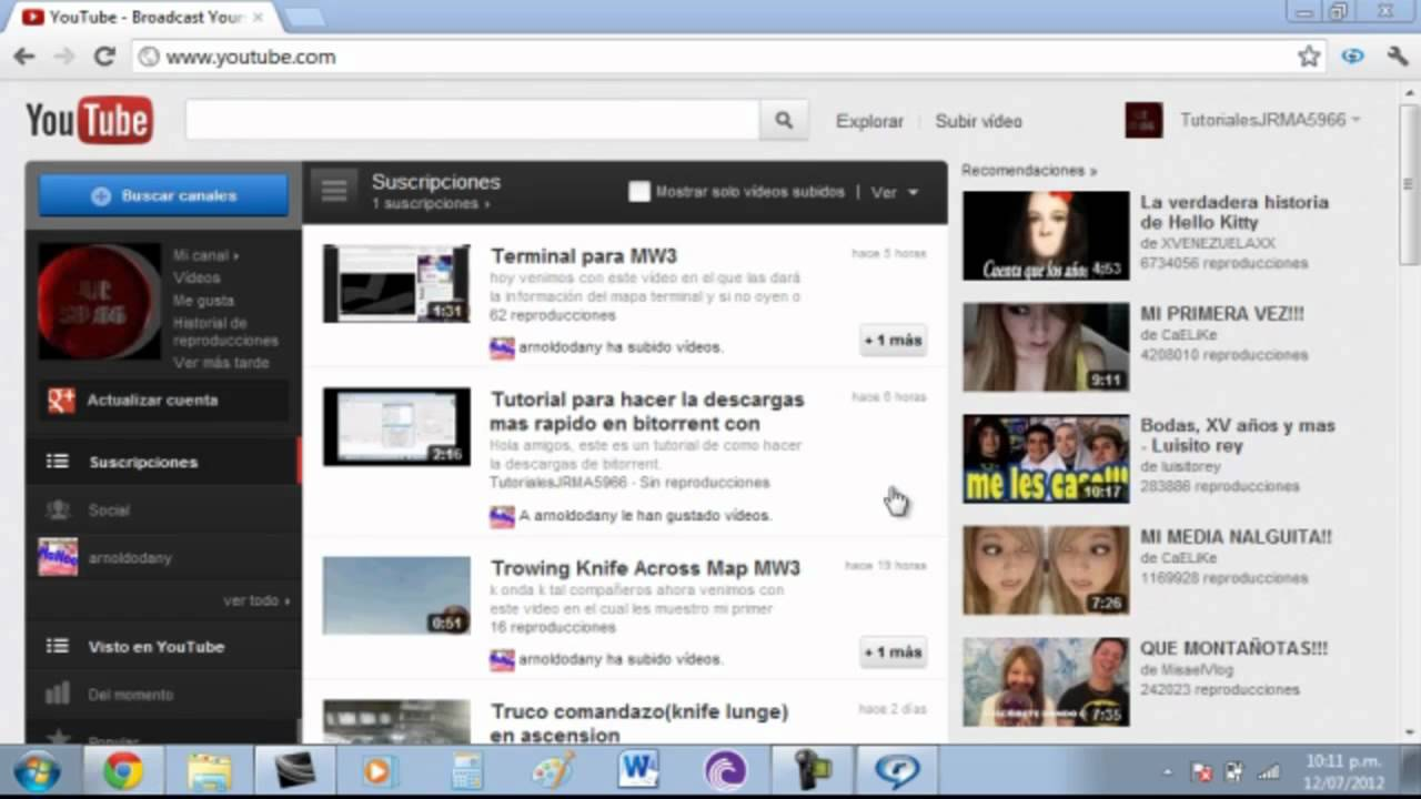 video da youtube con realplayer
