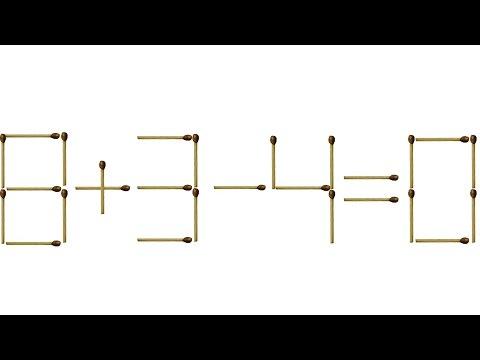 Загадка со спичками с ответом