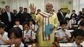 At a 136-year-old school in Tokyo, PM Narendra Modi the