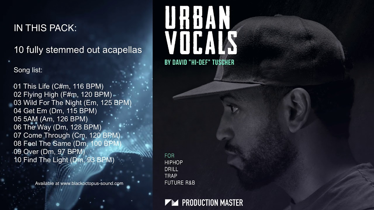 Production Master - Urban Vocals (Royalty Free Acapellas for Hip Hop /  Trap/ R&B )