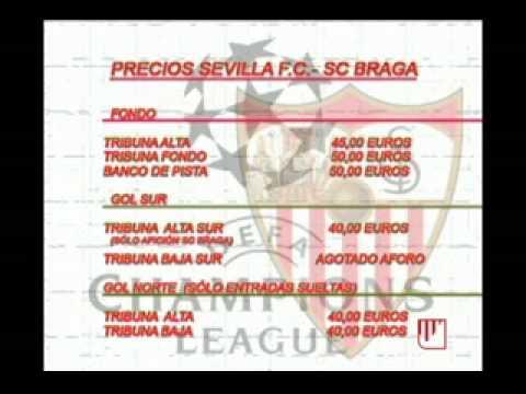 PRECIOS ENTRADAS CHAMPIONS