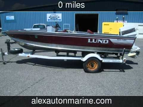 1988 Lund 1600 Fury Side Steer 60hp Johnson Vro T T Used Boats
