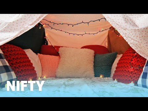How To Make The Coziest Blanket Fort Ever