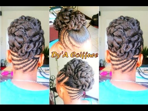 how to twisted bun for a wedding coiffure en chignon. Black Bedroom Furniture Sets. Home Design Ideas