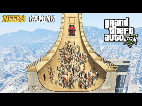 GTA 5 MODS - MEGA RAMP EXPERIMENTS (Funny Moments)