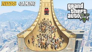 GTA5 #GTAMODS GTA 5 Mega Ramp Gameplay Experiments are FUN! Watch a...