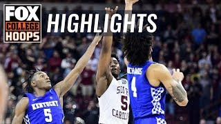 Kentucky knocked off on game-winning buzzer-beater by South Carolina | FOX COLLEGE HOOPS HIGHLIGHTS