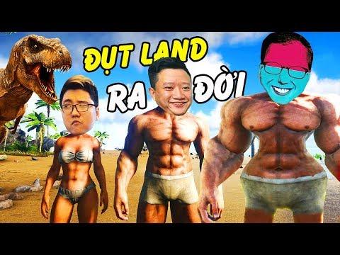 """ARK ĐỤT LAND #1: """"BIỆT ĐỘI TẤU HÀI"""" ĐẾN THẾ GIỚI KHỦNG LONG !!! Game vẫn vui như xưa =))"""