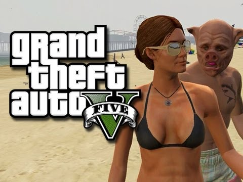 GTA 5 Online - Deluxe 4's Sexy Girlfriend!  (GTA 5 Skits and Funny Moments!)