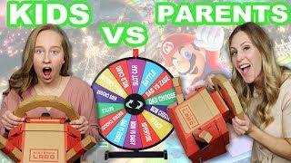 Nintendo Labo Mystery Wheel challenge! Kids vs Parents