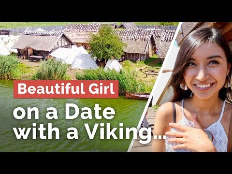 Beautiful Girl on a Date With a Viking... Festival of Slavs and Vikings in Wolin