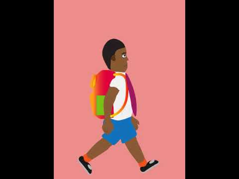 side walk cycle 2D Animation