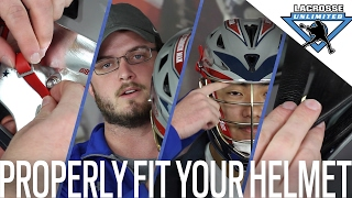 How To Fit A Lacrosse Helmet