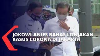 Jokowi dan Anies Baswedan Bahas Lonjakan Kasus Corona di Jakarta