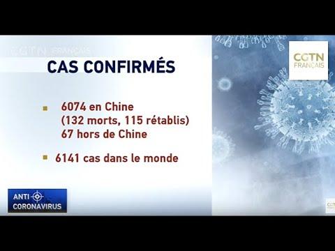 6141 cas confirmés dans le monde, 132 morts en Chine