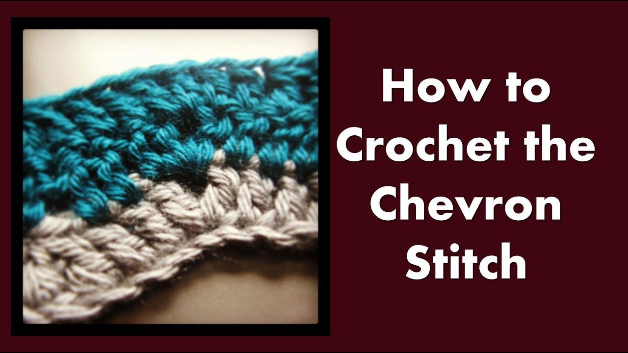 New Stitch A Day Chevron Knitting : How to crochet the chevron stitch - ViYoutube
