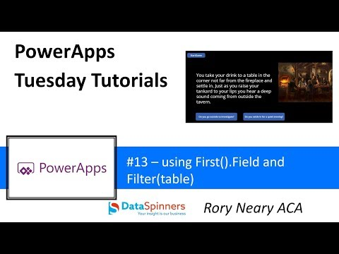PowerApps Tuesday Tutorials #13 First and Filter – TDG