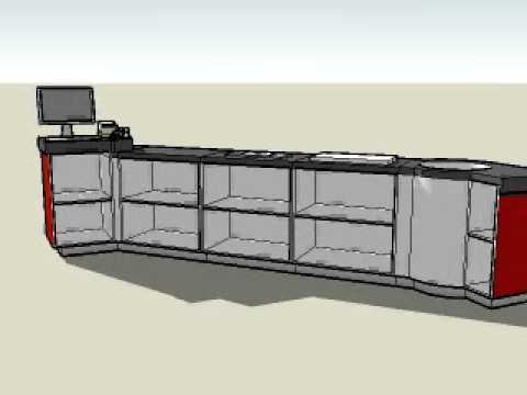 Proyecto mostrador youtube - Mostradores de madera para negocios ...