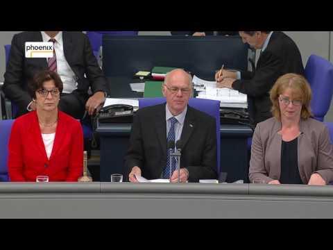 Bundestag beschließt Ehe für alle - Bundestagspräsident Lammert verkündet Ergebnis am 30.06.17
