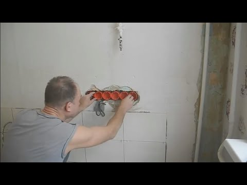 Монтаж блока розеток ч.1