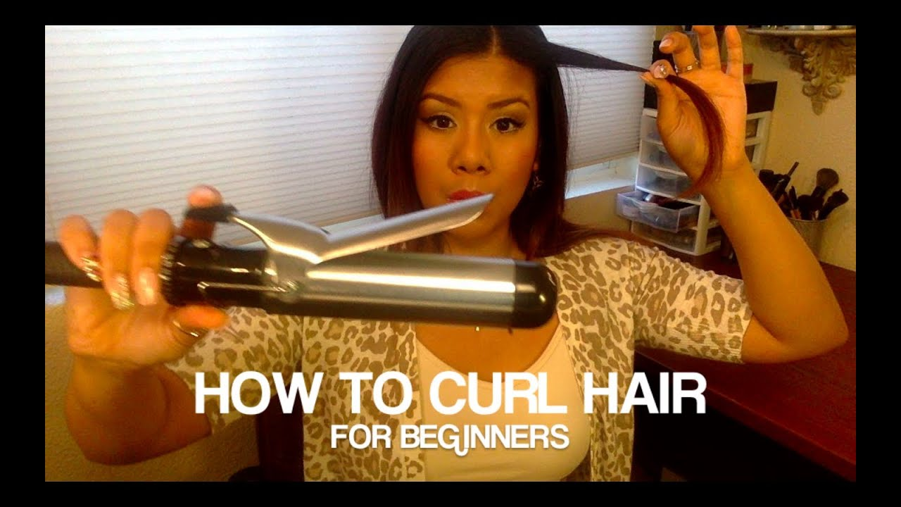 how to style hair with curling iron how to curl hair for beginners 4398