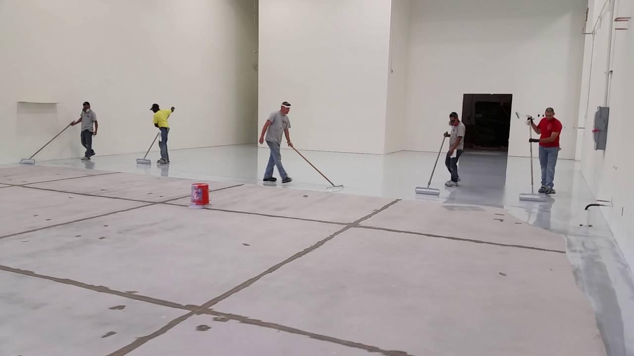 Brilliant Epoxy Floors Inc. The Granite Full Chip System - YouTube