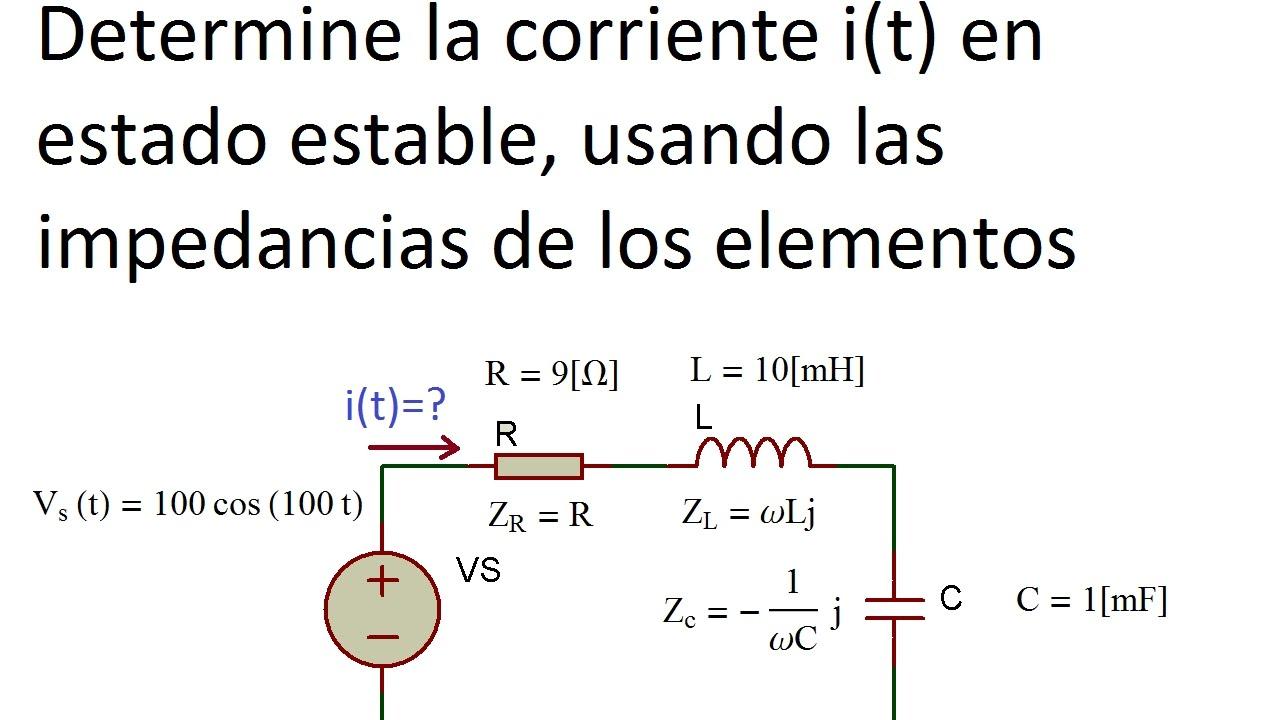 Circuito Rlc : Simplificación de circuito rlc en serie con impedancias youtube