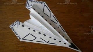 Origami Plane Concorde оригами самолёт канкорд