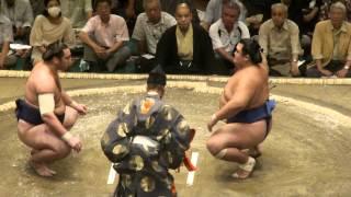 20120910 大相撲秋場所2日目 琴将菊vs栃ノ心.