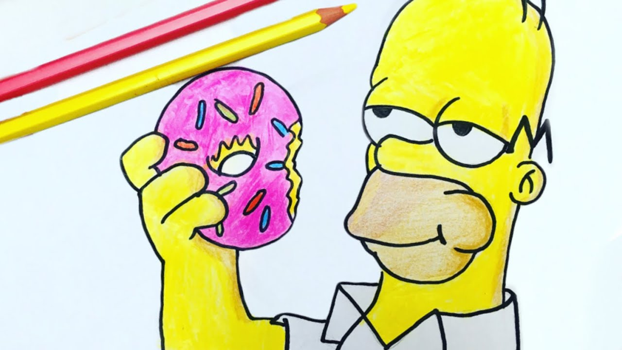 como desenhar o homer simpson youtube