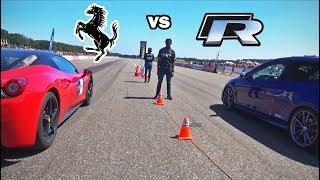 Download Video VW Golf R (mk7) -vs- Ferrari 458 Italia MP3 3GP MP4